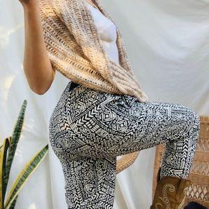 Tribal Print Casual Pants